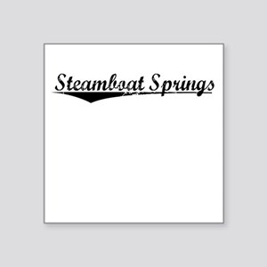 """Steamboat Springs, Vintage Square Sticker 3"""" x 3"""""""