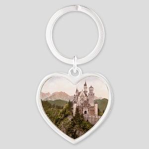 Neuschwanstein Castle Heart Keychain