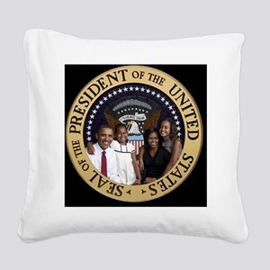 First Family Square Canvas Pillow
