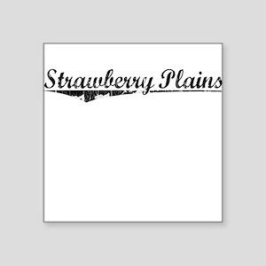 "Strawberry Plains, Vintage Square Sticker 3"" x 3"""