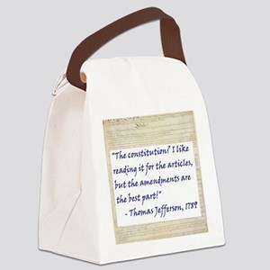 Constitution Articlles Canvas Lunch Bag