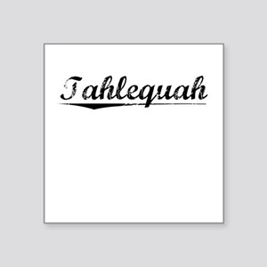 "Tahlequah, Vintage Square Sticker 3"" x 3"""