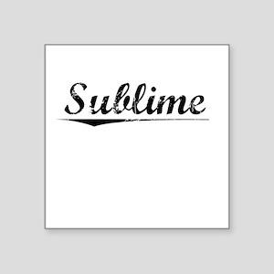 """Sublime, Vintage Square Sticker 3"""" x 3"""""""