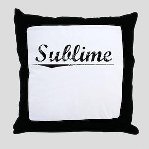 Sublime, Vintage Throw Pillow