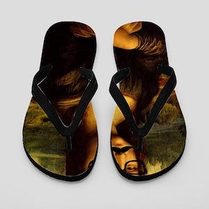 Mona Lisa Incognito Flip Flops