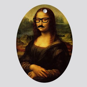 Mona Lisa Incognito Oval Ornament