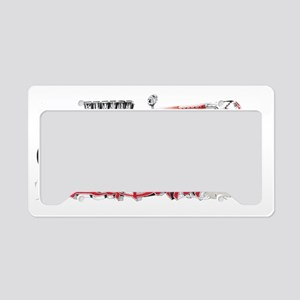 Red Baron Hot Rod BL License Plate Holder