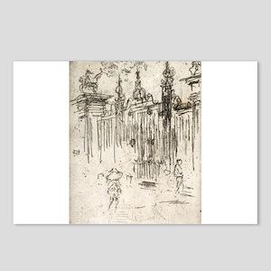 Gates, City, London - Whistler - c1880 Postcards (