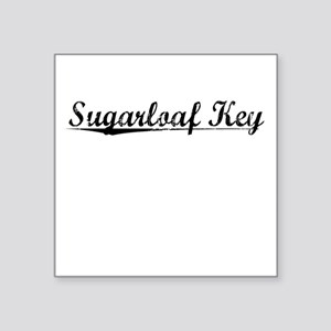 "Sugarloaf Key, Vintage Square Sticker 3"" x 3"""