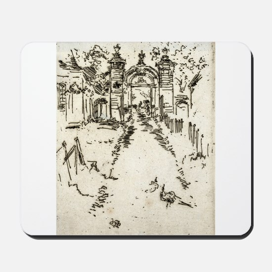 Gatewar, Chartreux - Whistler - c1880 Mousepad