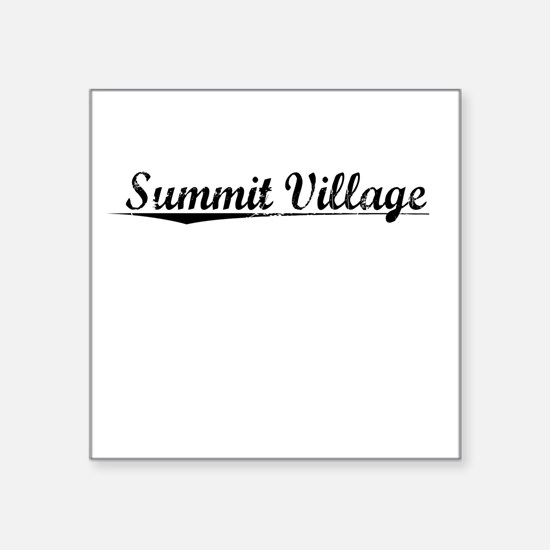 "Summit Village, Vintage Square Sticker 3"" x 3"""