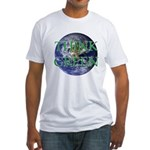 Think Green Earth Fitted T-Shirt