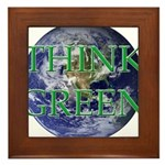 Think Green Earth Framed Tile