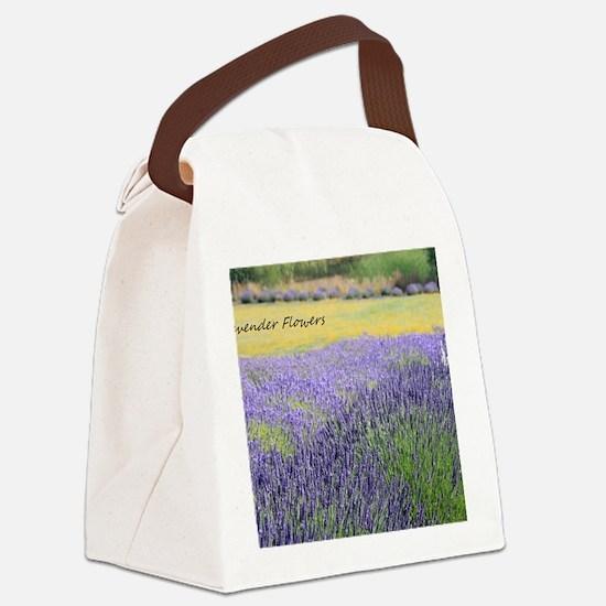 Lavender Canvas Lunch Bag