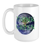 Think Green Earth Large Mug