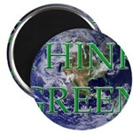 Think Green Earth Magnet