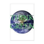 Think Green Earth Mini Poster Print