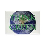 Think Green Earth Rectangle Magnet