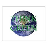 Think Green Earth Small Poster