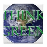 Think Green Earth Tile Coaster