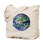 Think Green Earth Tote Bag