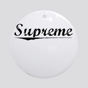 Supreme, Vintage Round Ornament