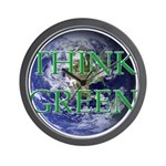 Think Green Earth Wall Clock