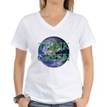Think Green Earth Women's V-Neck T-Shirt