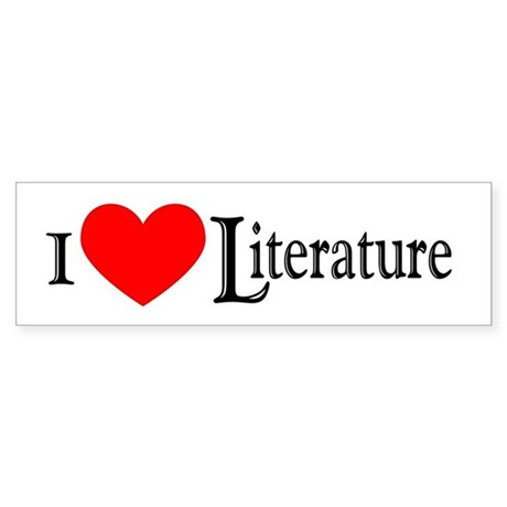 I Love Literature Bumper Sticker