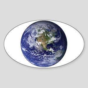Earth Oval Sticker