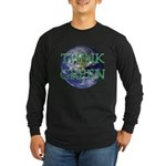 Think Green Double Sided Long Sleeve Dark T-Shirt