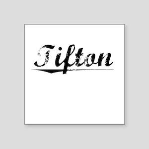 "Tifton, Vintage Square Sticker 3"" x 3"""