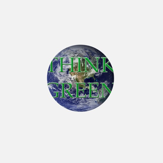 Think Green Double Sided Mini Button