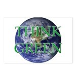 Think Green Double Sided Postcards (Package of 8)