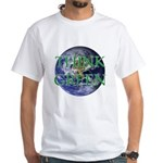 Think Green Double Sided White T-Shirt