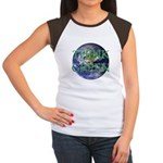 Think Green Double Sided Women's Cap Sleeve T-Shir