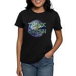 Think Green Double Sided Women's Dark T-Shirt