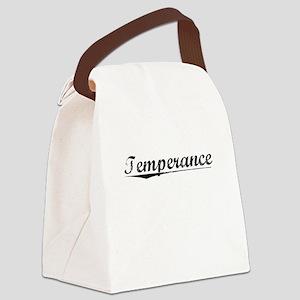 Temperance, Vintage Canvas Lunch Bag