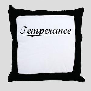 Temperance, Vintage Throw Pillow