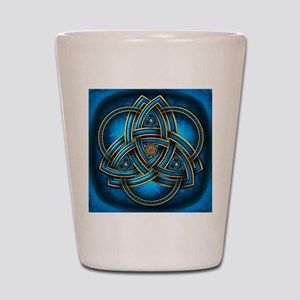 Blue Celtic Triquetra Shot Glass