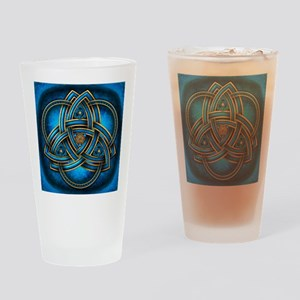 Blue Celtic Triquetra Drinking Glass