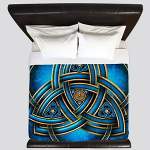 Blue Celtic Triquetra King Duvet