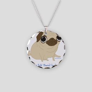 Bacon Pug Necklace Circle Charm