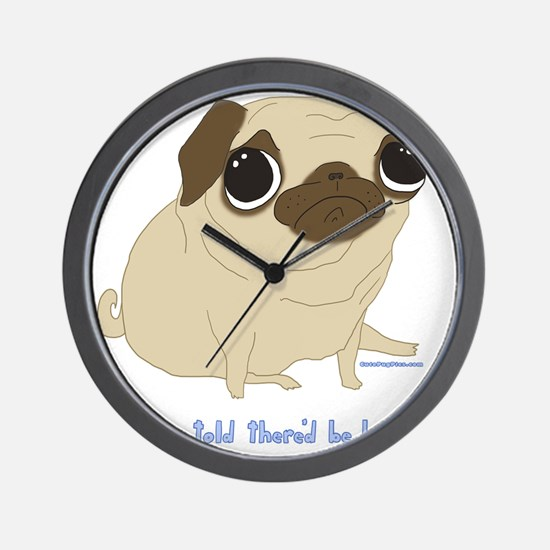 Bacon Pug Wall Clock