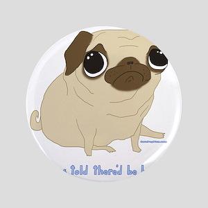 """Bacon Pug 3.5"""" Button"""