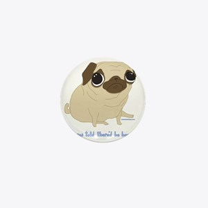 Bacon Pug Mini Button