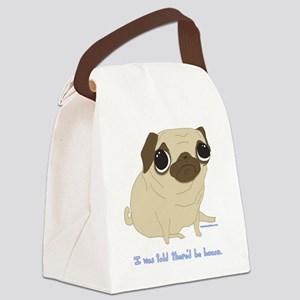 Bacon Pug Canvas Lunch Bag