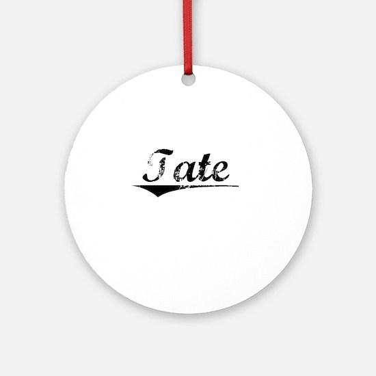 Tate, Vintage Round Ornament