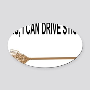 drive stick Oval Car Magnet