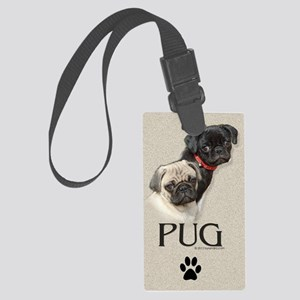 Two Pugs Large Luggage Tag